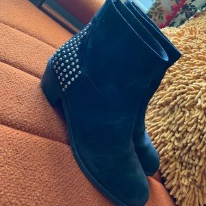 Mark Fisher Studded Back Suede Leather Boot